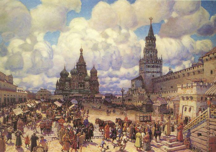 Аполлинарий Васнецов. Красная площадь во второй половине XVII века.